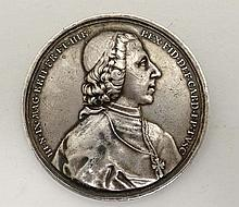 Frascati. Henry Stuart IX (1725-1807). Medal for the episcopate in Frascati 1788. D / HEN IX May FR ET HIB REX BRIT FID DEF CARD EP TVSC. Bust right with hat and cape. Henry Benedict Thomas Edward Maria Clement Francis Xavier Stuart, Cardinal Duke of