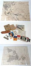 Militaria : A varied and unique collection of WWII British and American ephemera , comprising an Operation & Maintenance manual for the Harley Davidson military motorcycle , a War Department Technical Manual for Standard Military Motor Vehicles ,