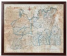 Maps: Titled A map of Surrey from the best Authories with hand coloured details. Engraved by J. Cary. Published by John Stockdale Piccadilly 1805.