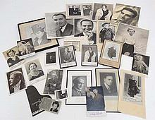 Film and Concert pianist Autographs : a large quantity of signed photographs to include : Evelyn Laye (x5) CBE (1900 - 1996) [was an English theatre and musical film actress , who was active on the London light opera stage , Gordon Whelan (x 5)[