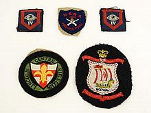 Militaria : An assortment of cloth badges , comprising two Guards Armoured Division ( IV ) formation badges , British / Norwegian Naval badge , a National Smallbore Rifle Association Marksman 1960 badge and a Lincoln Centre Rifle Club badge