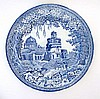 An early 19thC blue and white transfer printed