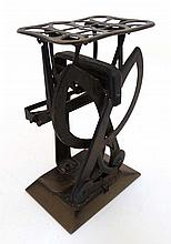 An early Continental tinplate letter weighing scales ( with twin scale) approx 6