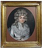 XVIII English School Pastel oval Portrait of a