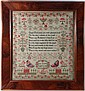 Sampler : ' Jane Cowey Aged 13 1850 ' a large