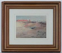 Joseph Bonello (1873-?) Maltese Pastel Landscape Initialled lower right and inscribed