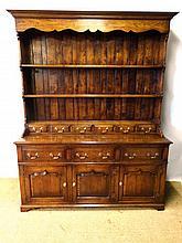 A contemporary Georgian Oak Style Dresser and open