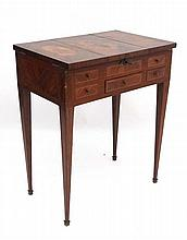 A Louis XVI French kingwood dressing table with