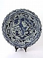A Chinese porcelain large blue and white charger,