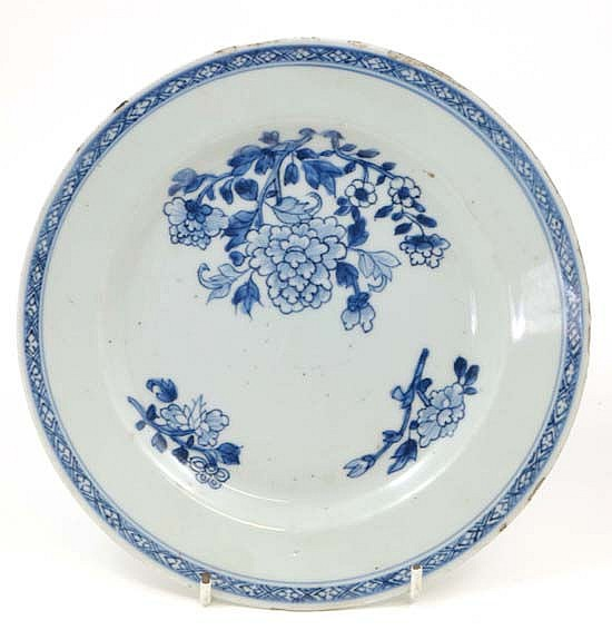 An 18thC / 19thC Chinese blue and white hand