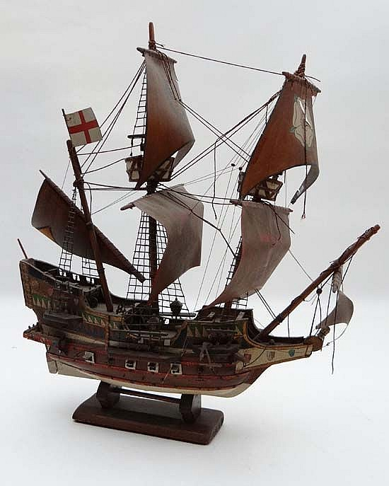 A scale model of Sir Francis Drake's Golden hind (