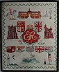 Sampler : A QE II Commonwealth hand stitched