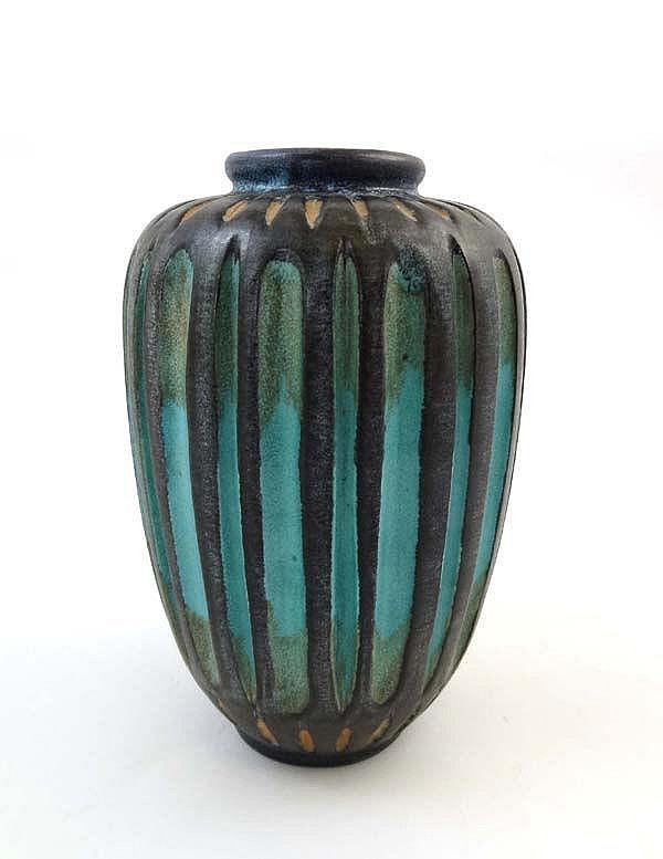 An Art Pottery vase by Mark Valcera of Switzerland