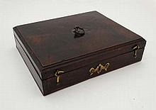 Gun case : A Georgian single pistol box , of