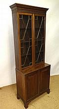 A 19thC mahogany bookcase with astral glazed doors