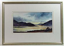Verona Cole XX Watercolour ' Evening Light, Loch