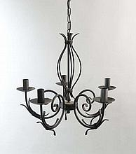 A Contemporary 5-branch pendant electrolier with