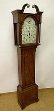 Longcase : an oak longcase clock with 8 day