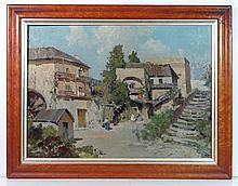 Indistinctly signed XX Italian School Oil on