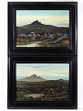 A E Barnes XXI-XX Oil on canvas, a pair Highland