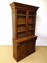 A Victorian mahogany glazed top bookcase with 3