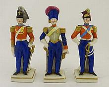 Militaria : A trio of Italian ceramic figurines