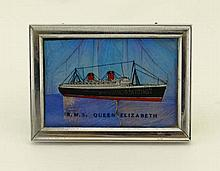 RMS Queen Elizabeth : A small framed memento