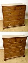 A pair of late 19thC mahogany chest of drawers