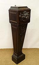 A French Henri II style carved oak pedestal with