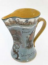 A Rare Royal Doulton Series Ware jug printed on a