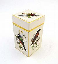 A Carltonware rectangular shaped lidded pot the