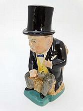 Winston Churchill : A novelty jug and cover in the