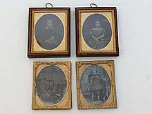 Daguerreotype photography : 2 pairs (4) of
