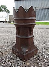 Victorian chimney : a Victorian terracotta chevron