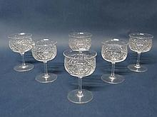 Webbs : A set of 6 pedestal wine glasses with