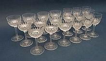 A collection of 19 assorted c.1900 crystal glasses