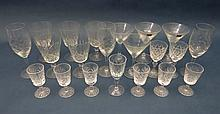 Crystal Glasses : A quantity of (approx. 20 )