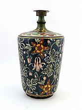 A Royal Bonn bottle vase with metal cover,