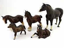 Two Beswick Horse figures comprising Lying Foal ,