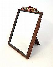 Barbola mirror: A French 1920's limed oak and