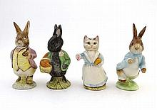 Four Beswick Beatrix Potter figurines , comprising