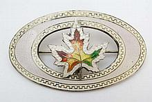 An early 20thC Canadian Sterling silver brooch of