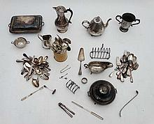 A large quantity of assorted silver plated wares
