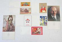 Soviet Russian Propaganda Cards : 8 New Old