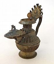 A late 19 th/early 20th Tibetan cast brass incense