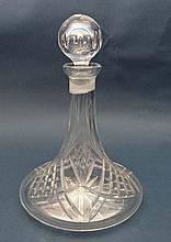 A Contemporary lead crystal ships decanter with