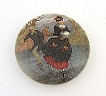 A Victorian Pot Lid known as The Skaters produced