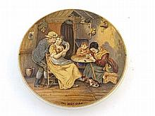 A Victorian Pot Lid entitled The Best Card