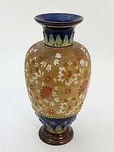 A large Doulton & Slater vase by L. Waters of