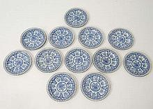 A set of x 12 early 19thC blue and white transfer